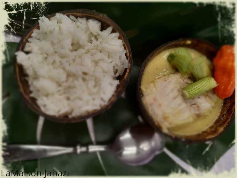 recette de daurade au lait de coco et épices