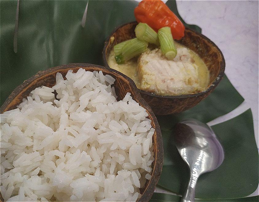 Daurade au lait de coco-curcuma-gingembre maisonjahazi